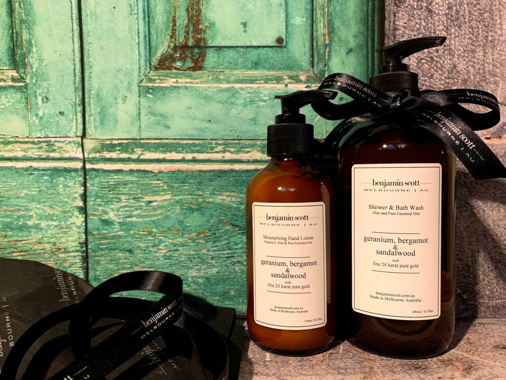 Benjamin Scott Luxury Body Products with Pure Essential Oils and 24K Gold