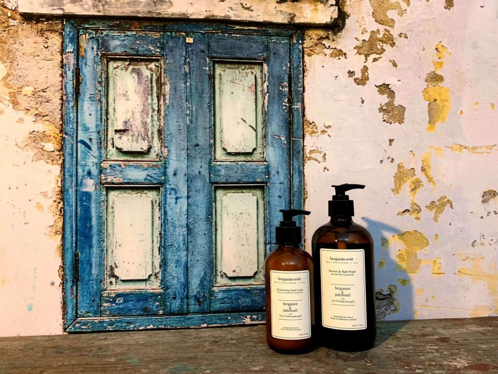 Benjamin Scott Luxury Body Lotion and Wash With Real Pure Gold